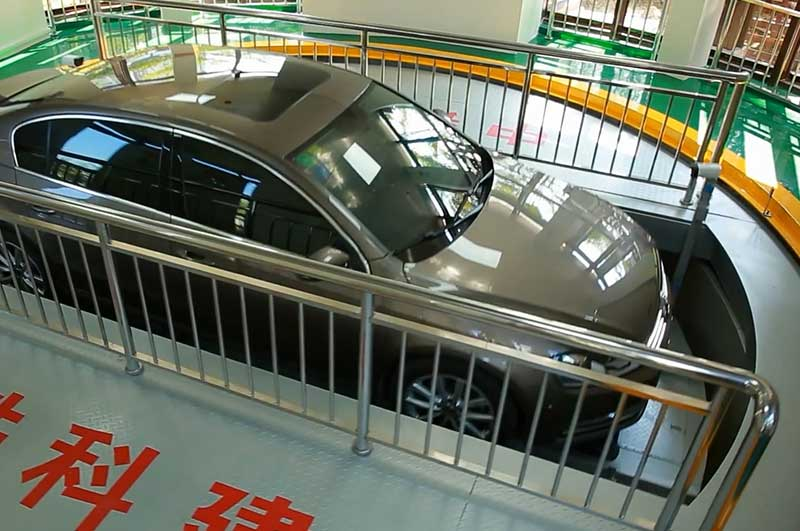 China underground automated parking system in the pit