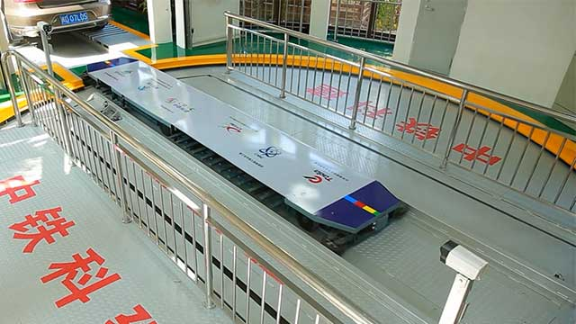 Robotic parking system of underground automated parking