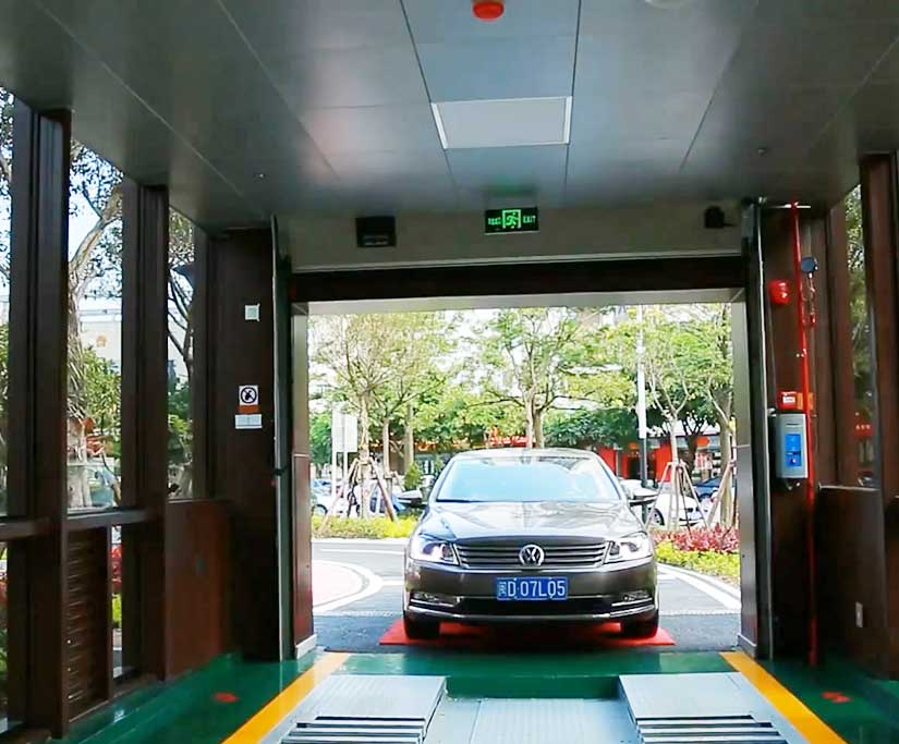 underground automated parking system pictures